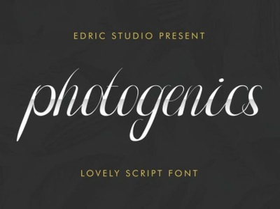 Photogenics Free Font handwritten font handwritten script design typography font free download free font download