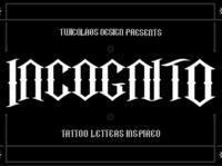 Incognito Free Font blackletter font free download free font download