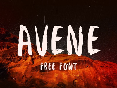 AVENE Free Font brush script handwritten font free typography download free font download