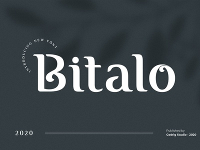 Bitalo Free Font font free typography download free font download