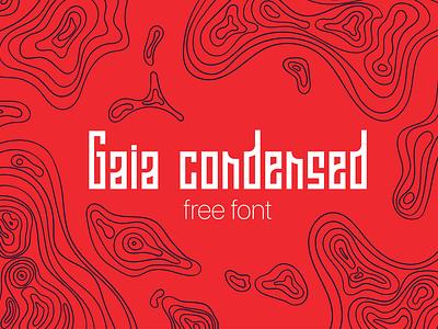Gaia Condensed Free Font design typography font free download free font download
