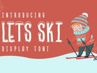 Lets Ski Free Font