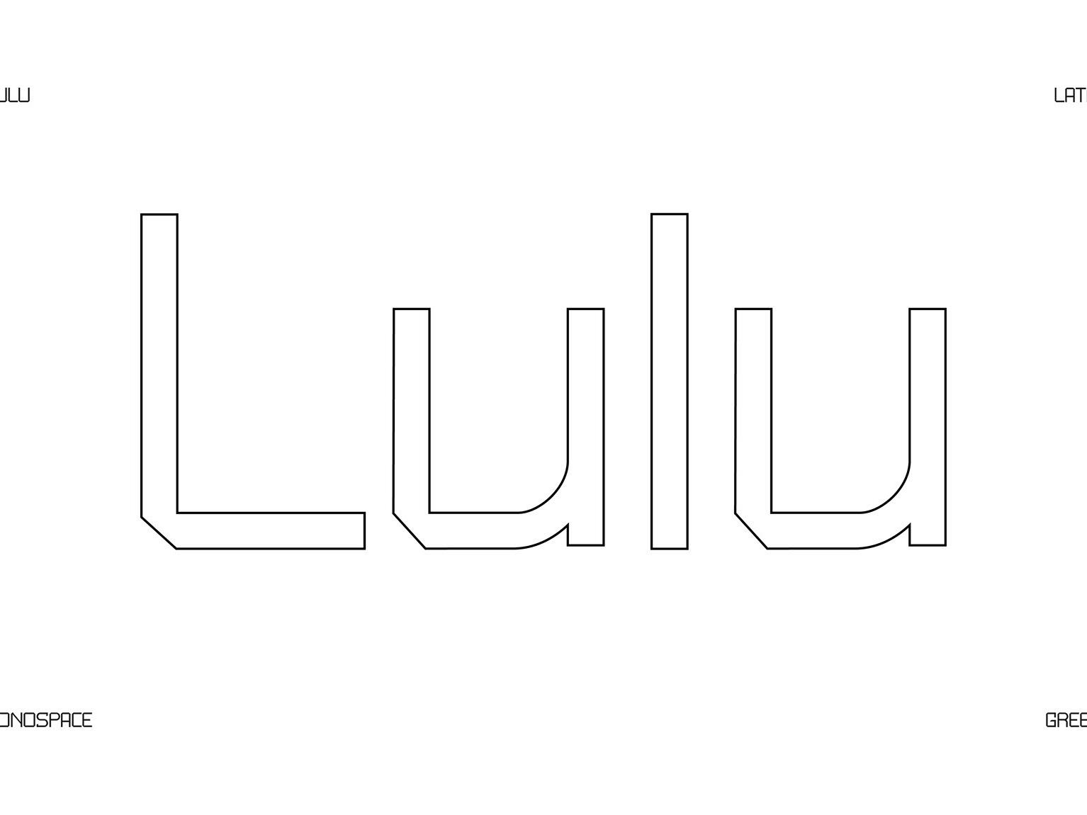 Lulu Monospace Free Font monospace free font typography download free font download