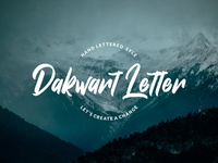 Dakwart Letter Free Font