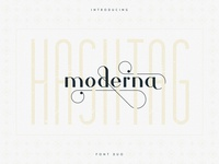 Hashtag Moderna Free Font