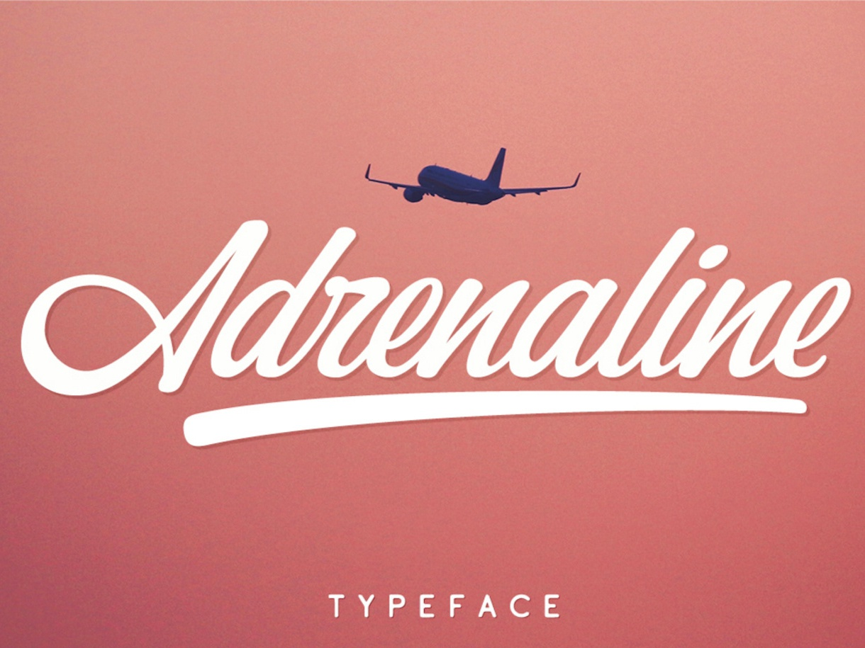 Adrenaline Free Font script font handwritten font typography font free download free font download