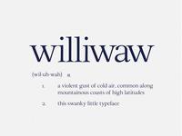 Williwaw Book Free Font