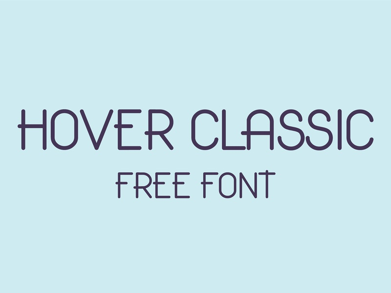 Hover Classic Free Font rounded font free typography download free font download
