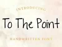 To The Point Free Font