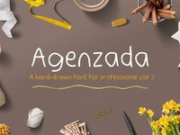 Agenzada Hand Drawn Free Font