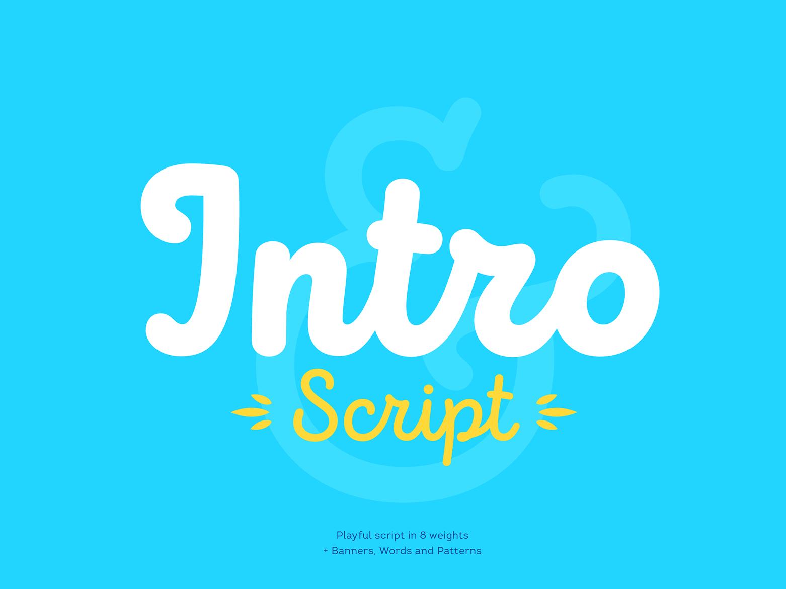 Intro Script Free Font design vector ui logo script handwritten font typography font free download download free font