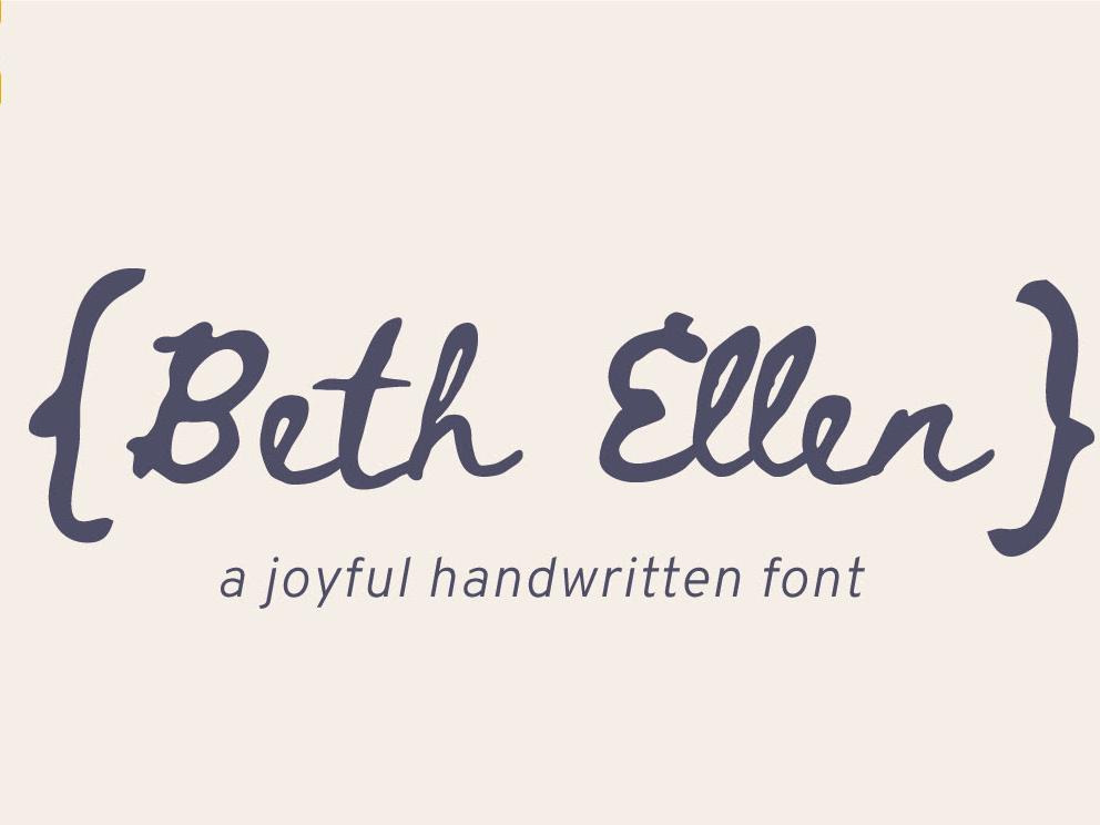 Beth Ellen Free Font design typography font free download free font download