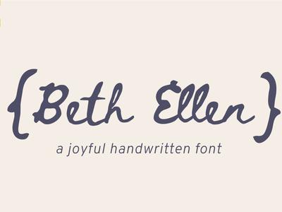 Beth Ellen Free Font