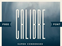 Calibre Super Condensed Free Font