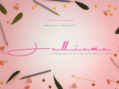 Jullianne Free Font design handwritten font typography font free handwritten download free font script download