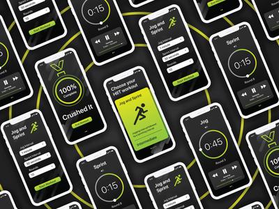 HIIT Workout App Concept