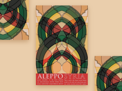 Syria Cultural Mosaic Awareness Poster aleppo syria intricate visual design poster patterns cultural illustration