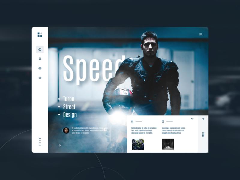 Speed webdesigner webdesign lifestyle motorcycle uidesign ui speed