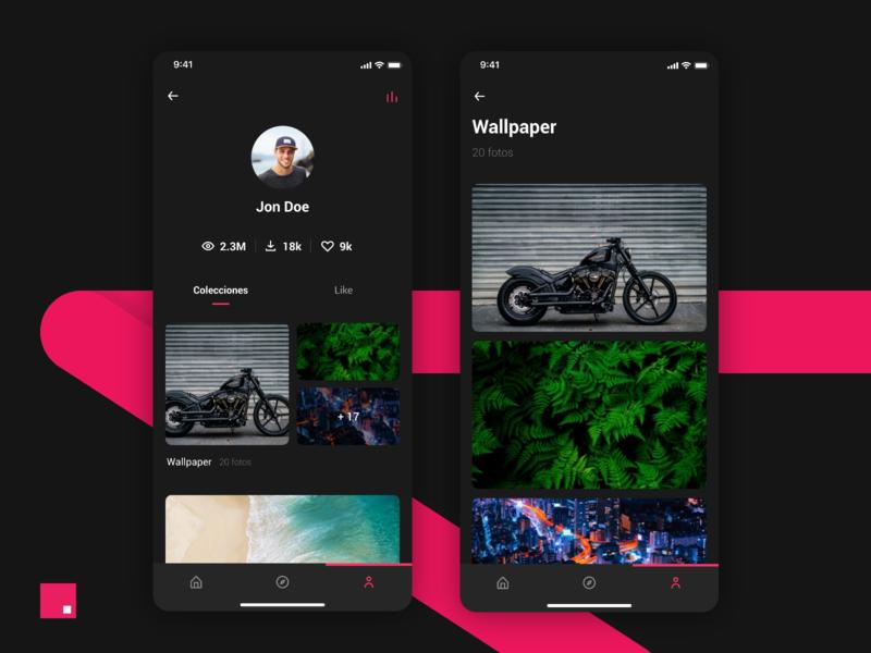 Dark profile invisionapp invisionstudio mobile design mobile app ux rose dark uxdesign uidesign product designer product design mobile apps app ui design