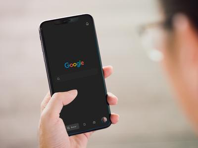 Dark mode - Redesign Google | MockUp mobileapp ui ux design productdesign behance dribbble uidesign uxdesign sktech dark darkmode redesign google
