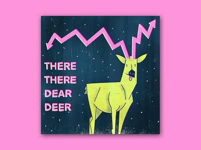 There There Dear Deer funny cartoon drawing graphic texture editorial finance deer procreate character illustration colorful