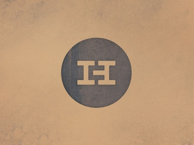 Construction company logo emblem chunky gold monogram mark vintage construction logo branding slab h