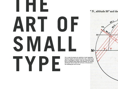 The Art of Small Type diagram vintage art small type typography grid decoration trade gothic