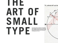 The Art of Small Type