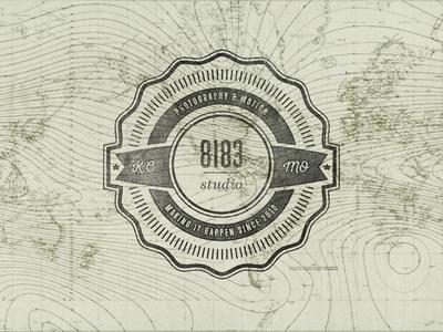 8183 Studio Badge badge typography vintage texture