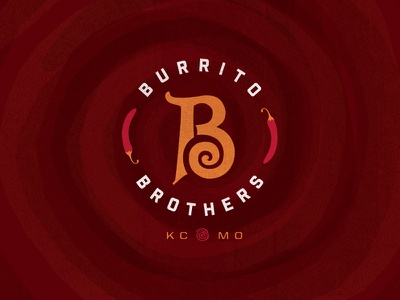 Burrito Brothers KC food restaurant branding mexican food kansas city brothers burrito b logo logo