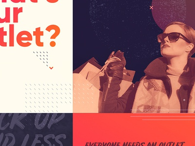 Lifestyle Client Project gradient lifestyle signage print texture poster duotone