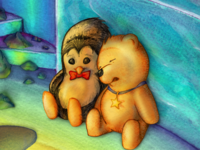 """""""Pookie and Tushka find a little piano"""" book"""