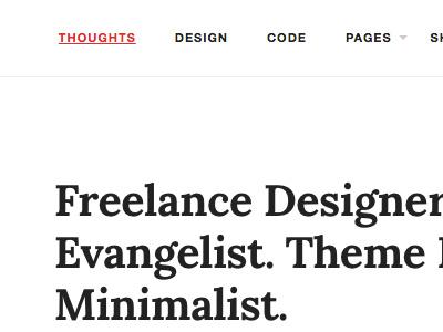 Redesign / Theme typography minimal blogging writing reading theme wordpress