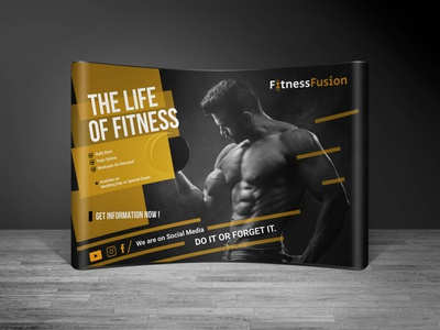 FitnessFusion |  Trade show Booth Design art graphics design unique brand identity logo brand concepts tradeshowbooth business events standdesign marketing fusion fitness expo exhibition booth design tradeshow