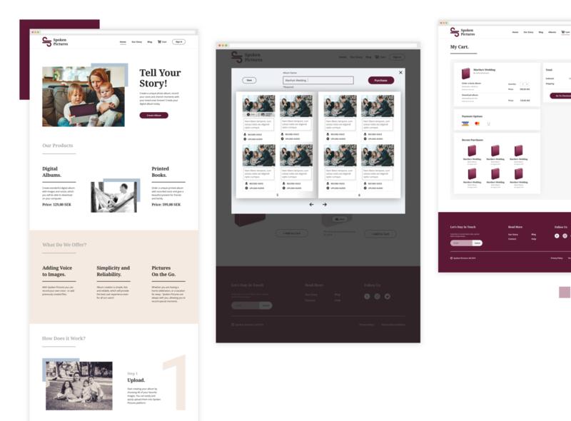 E-commerce web design responsive web online shopping album ux ui digital design ecommerce
