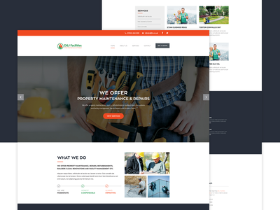 Maintenance Repair Website Concept corporate repair website maintenance wordpress website ui ux mobile apps web design html css homepage bootstrap landing page