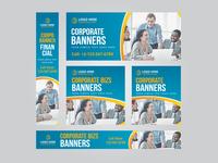 Business Web Banner Set Vector