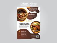 Food Restaurant A4 Flyer Leaflet Template