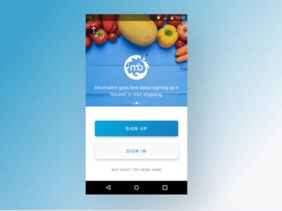 App Design for Milkbasket