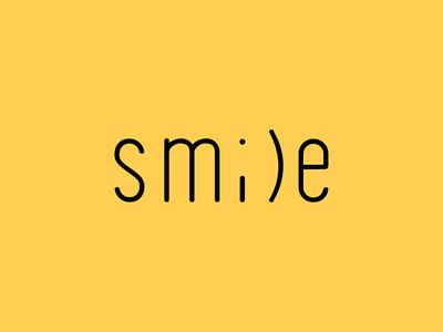 Smile textual logo concept