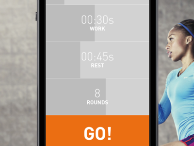 Breath – A simple HIIT assistant. ui design ios ux interface mobile button input list hiit time setting