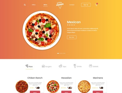 Pizzeria UX / UI design