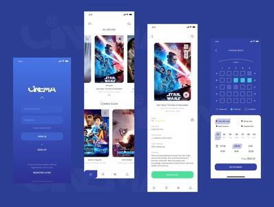 Cinema Mobile App (UX / UI design)