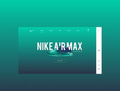 Nike UX / UI design