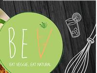 Vegetarian and Vegan Restaurant Menu + Logo