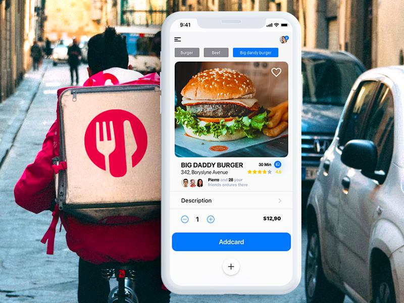 Dream food applicaiton deliveries food app ui food app ui  ux design uipractice uidesign