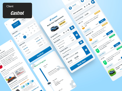 Creating a garage experience. mobile app product design responsive ui casestudy ux client