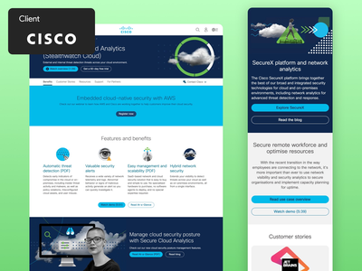 Cisco Security Portal mobile app product design client work client design ui app design ux