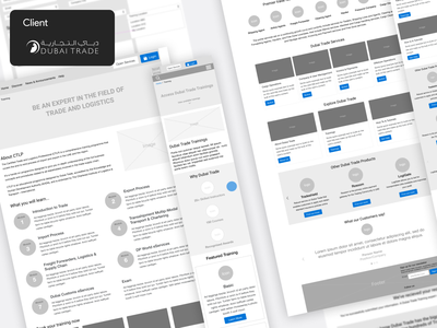 Dubai - Semi Government Project wireframing wireframe client work app design casestudy client design ui ux product design mobile app
