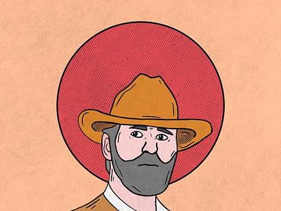 Cowboy design western sunset procreate cowboy drawing illustration